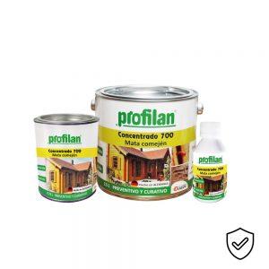 Profilan Concentrado 700 es un inmunizante biocida y fungicida a base de solvente especializado para proteger maderas a intemperie.